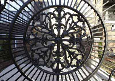Decorative Ornamental Iron Privacy Gate Houston
