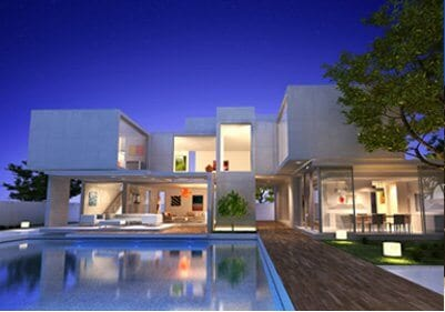 Modern Contemporary Villa Elevation Houston