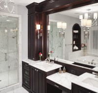 Traditional Master Bath Vanity Shower Remodel Houston