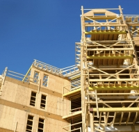 New Construction Framing of Multi Story Apartments Houston