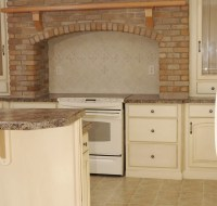 Remodel of Kitchen with Brick and Tile Houston