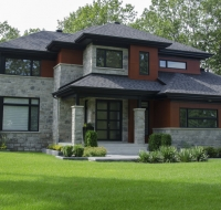 Natural Stone Stucco Home Elevation Houston