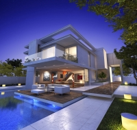 Modern Contemporary Patio Home Elevation Houston
