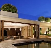 Contemporary Cabana and Pool Houston