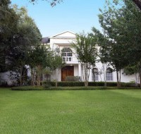 Contemporary Colonial Stucco Home Elevation Houston