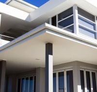 New Construction Modern Home Elevation Houston