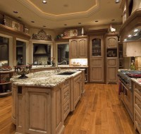 Natural Finished Piney Cabinets Remodel Houston Tx