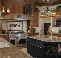 Viking Oven Cook Top Kitchen Maple Birch Cabinets Houston