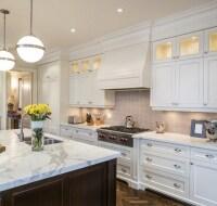 Traditional Enameled Cabinet Kitchen Houston