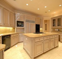New Construction Pickled Oak Cabinet Kitchen Houston