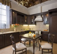 Detailed Coffered Kitchen Ceiling