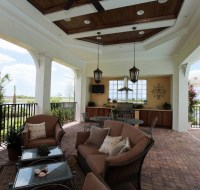 Outdoor Lanai Space with Wood Ceiling