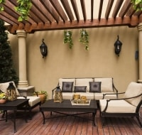 Trellised Outdoor Privacy Patio