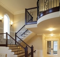 New Construction of Stairs in Luxury Townhome Houston