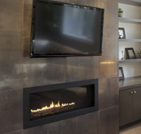 Family Room Remodeling of New Fireplace Houston