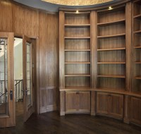 Remodeling of Study with Built Cabinets Houston
